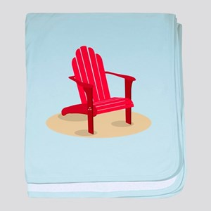Red Beach Chair baby blanket