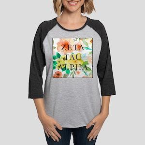 Zeta Tau Alpha Floral Square Womens Baseball Tee