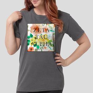 Zeta Tau Alpha Floral Womens Comfort Colors Shirt