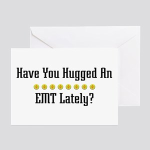 Hugged EMT Greeting Cards (Pk of 10)