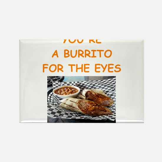 burrito lover Rectangle Magnet
