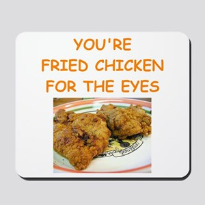 fried chicken lover Mousepad