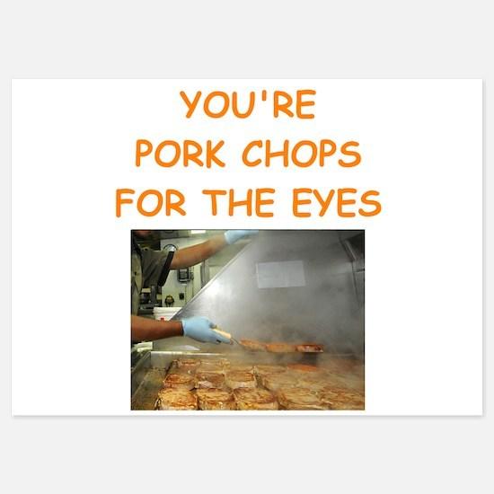 pork chop lover Invitations