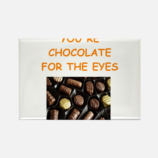 chocolate lover Rectangle Magnet