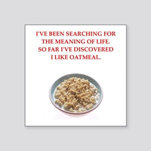 "oatmeal Square Sticker 3"" x 3"""