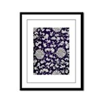 Abstract Whimsical Flowers Framed Panel Print