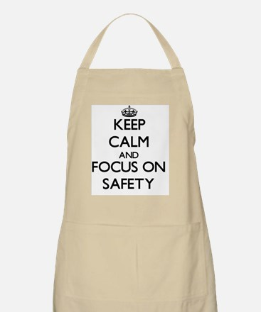 Keep Calm and focus on Safety Apron