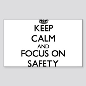 Keep Calm and focus on Safety Sticker