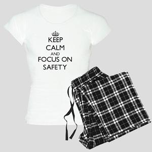 Keep Calm and focus on Safe Women's Light Pajamas