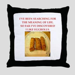 egg roll Throw Pillow