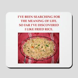 fried rice Mousepad