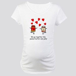 Peanut Butter and Jelly Maternity T-Shirt