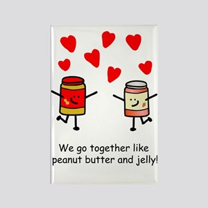 Peanut Butter and Jelly Rectangle Magnet