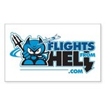 Flights From Hell Rectangle Sticker