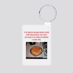 pie Aluminum Photo Keychain