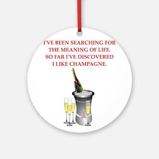 champagne Ornament (Round)