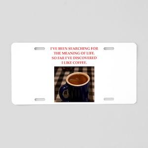 coffee Aluminum License Plate