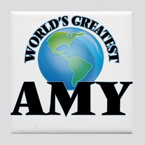 World's Greatest Amy Tile Coaster