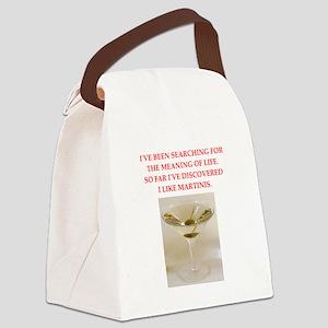 martini Canvas Lunch Bag