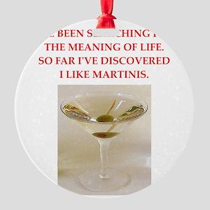 martini Round Ornament