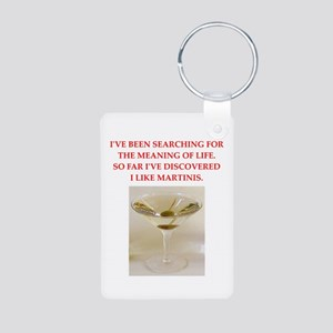 martini Aluminum Photo Keychain