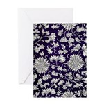 Abstract Whimsical Flowers Greeting Cards