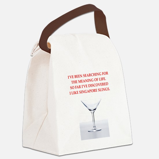 singapore sling Canvas Lunch Bag