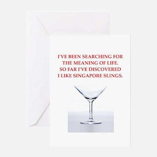 singapore sling Greeting Card