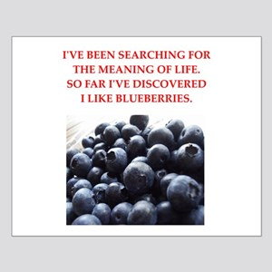 blueberries Small Poster