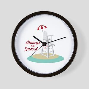 Always on Guard Wall Clock