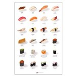 Sushi Ensemble (23'' x 35'') (english)