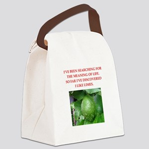 lime Canvas Lunch Bag