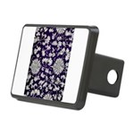 Abstract Whimsical Flowers Rectangular Hitch Cover