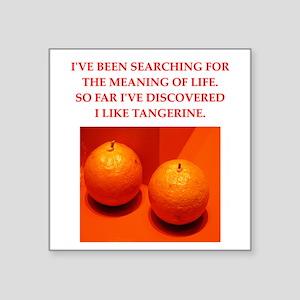 "tangerine Square Sticker 3"" x 3"""