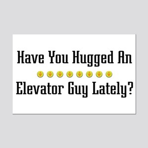 Hugged Elevator Guy Mini Poster Print