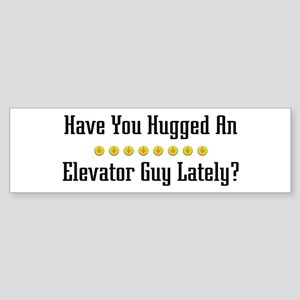 Hugged Elevator Guy Bumper Sticker