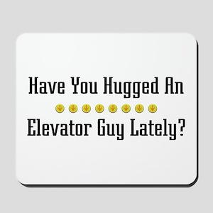 Hugged Elevator Guy Mousepad
