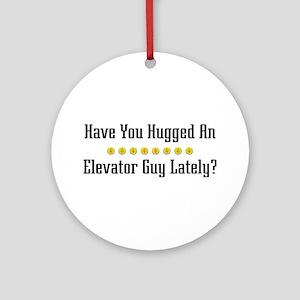 Hugged Elevator Guy Ornament (Round)