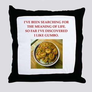 gumbo Throw Pillow