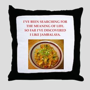 jambalaya Throw Pillow