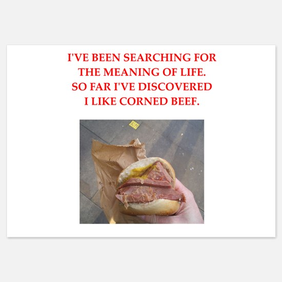 corned beef Invitations