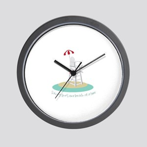 One Beach at a Time Wall Clock