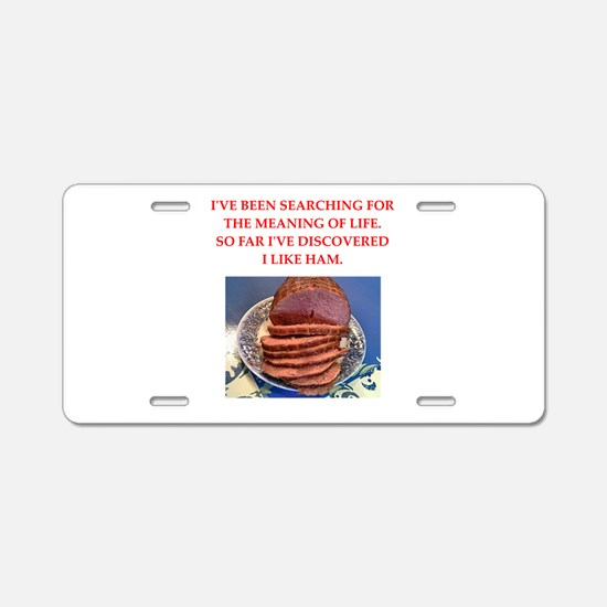 ham Aluminum License Plate