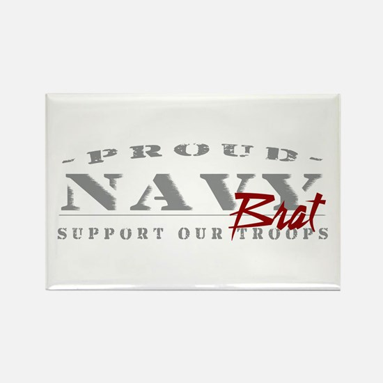 Proud Navy Brat (red) Rectangle Magnet