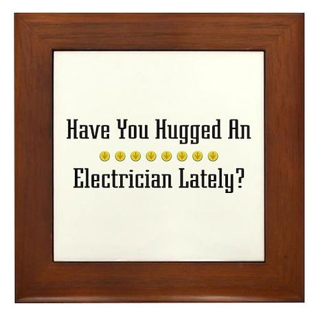 Hugged Electrician Framed Tile