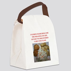 cole slaw Canvas Lunch Bag