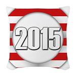 2015 LOGO Woven Throw Pillow