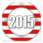 2015 LOGO Square Car Magnet 3
