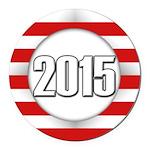 2015 LOGO Round Car Magnet
