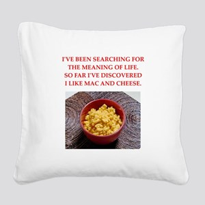 macaroni and cheese Square Canvas Pillow